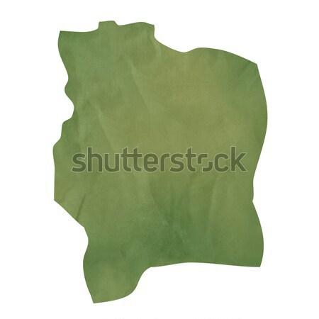 öreg zöld papír térkép Elefántcsontpart izolált Stock fotó © speedfighter
