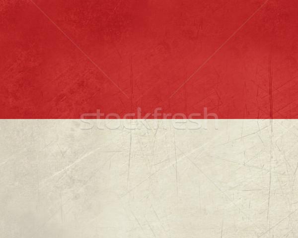 Grunge Mônaco bandeira país oficial cores Foto stock © speedfighter