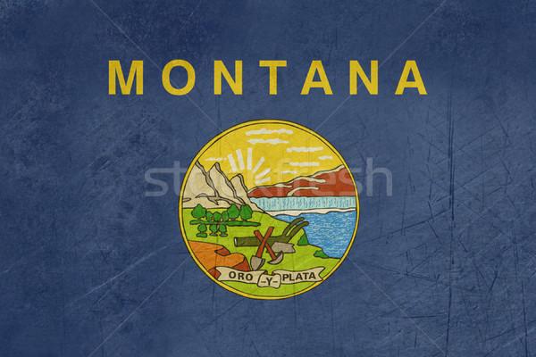 Гранж Монтана флаг иллюстрация Соединенные Штаты Америки Сток-фото © speedfighter