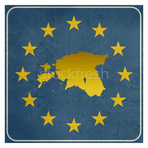 Эстония европейский знак изолированный белый копия пространства Сток-фото © speedfighter