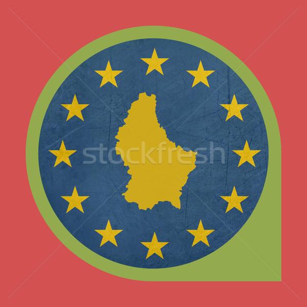 Europese unie Luxemburg fiche knop geïsoleerd Stockfoto © speedfighter