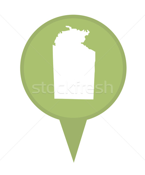 Australia Northern Territory State map marker pin Stock photo © speedfighter
