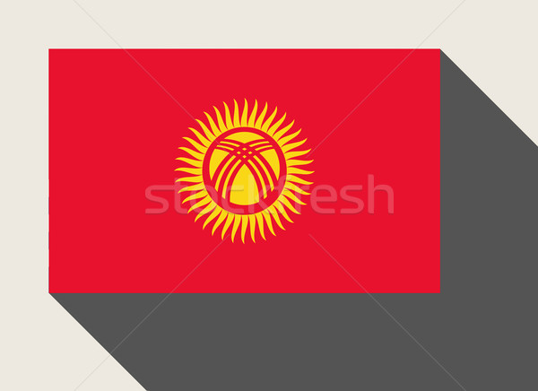 Kirgizië vlag web design stijl kaart knop Stockfoto © speedfighter