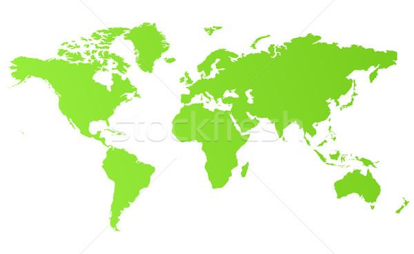 Green eco world map Stock photo © speedfighter