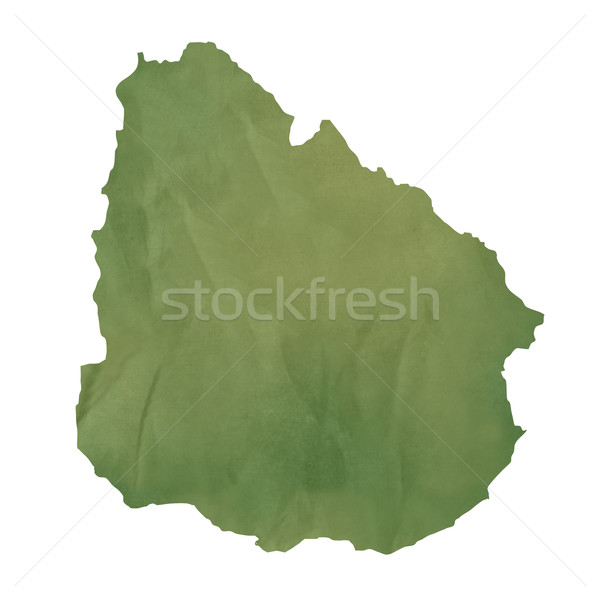 Old green paper map of Uruguay Stock photo © speedfighter