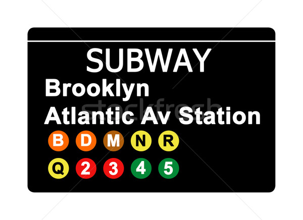Brooklyn Atlantic Avenue Station subway sign Stock photo © speedfighter