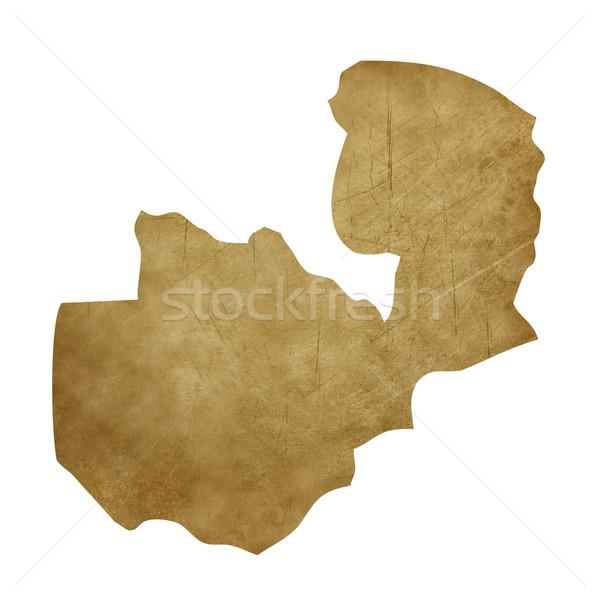 Zambiya grunge treasure harita harita hazine stil Stok fotoğraf © speedfighter