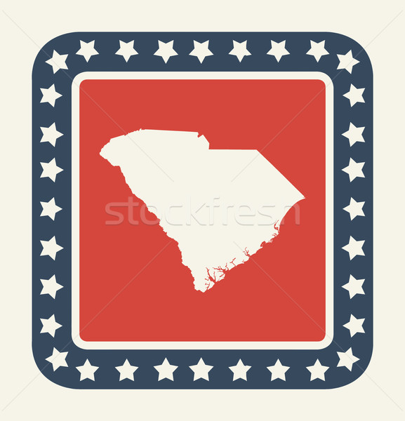 South Carolina americano botão bandeira americana web design estilo Foto stock © speedfighter