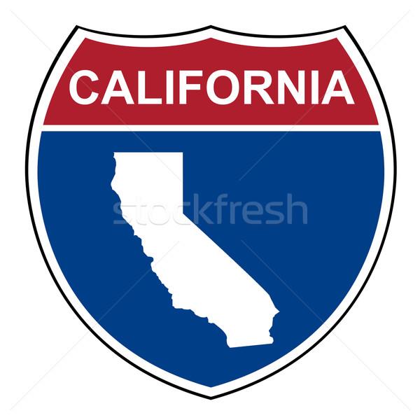 Kaliforniya eyaletler arası karayolu kalkan amerikan yol Stok fotoğraf © speedfighter