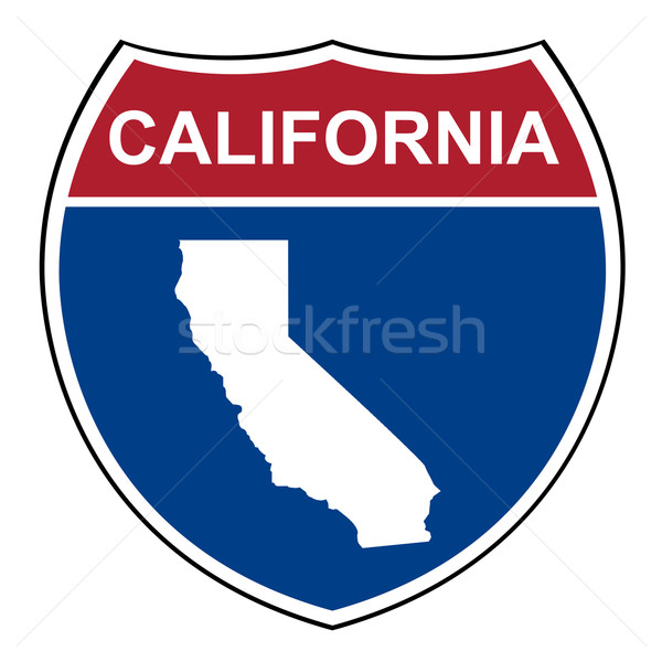 Califórnia interestadual rodovia escudo americano estrada Foto stock © speedfighter