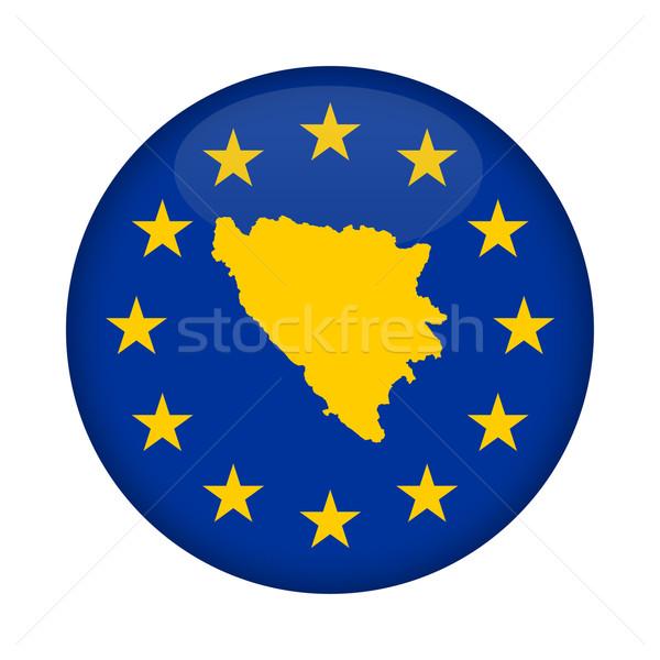 Bosnia Herzegovina mapa europeo Unión bandera botón Foto stock © speedfighter