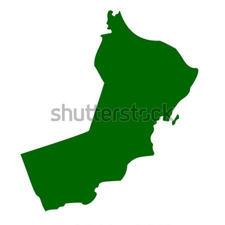 старые зеленый карта Оман бумаги Сток-фото © speedfighter