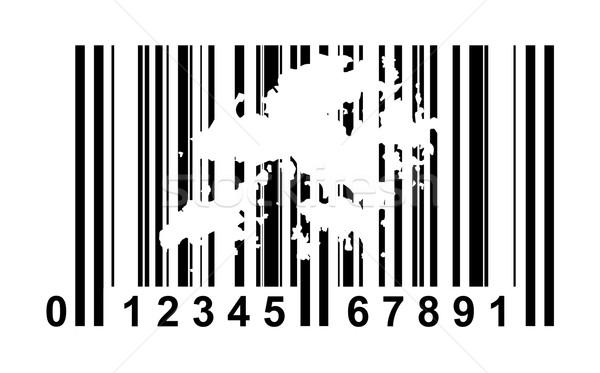 Hong Kong streepjescode winkelen geïsoleerd witte reizen Stockfoto © speedfighter
