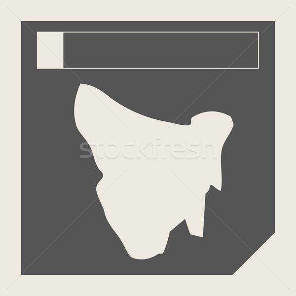 Tazmanya harita düğme duyarlı web tasarım yalıtılmış Stok fotoğraf © speedfighter