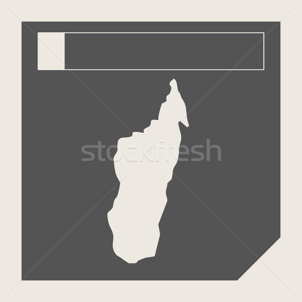 Мадагаскар карта кнопки отзывчивый веб-дизайна изолированный Сток-фото © speedfighter