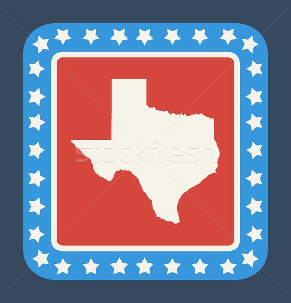 Texas gomb amerikai zászló web design stílus izolált Stock fotó © speedfighter