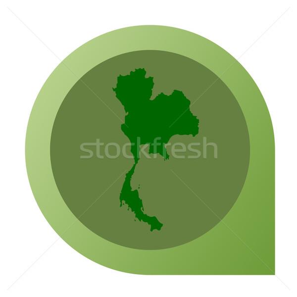 Isolated Thailand map marker pin Stock photo © speedfighter