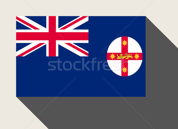 Australian state of New South Wales flag Stock photo © speedfighter