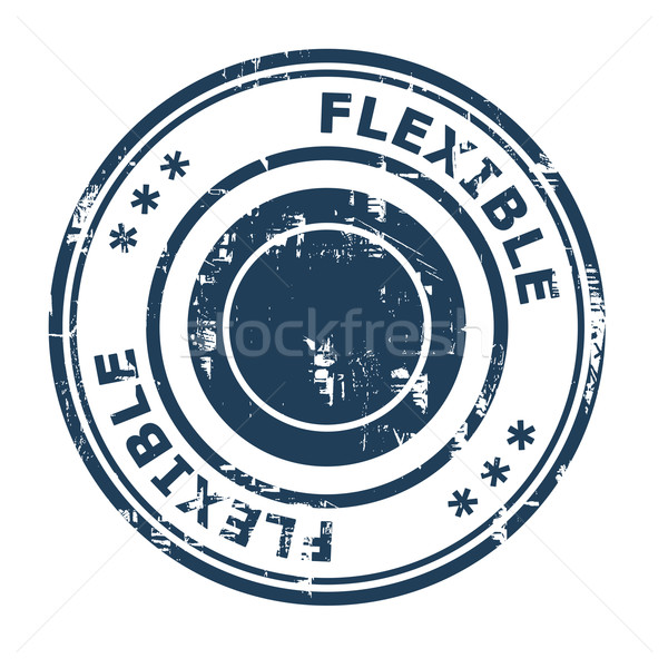 Flexible negocios aislado blanco azul Foto stock © speedfighter