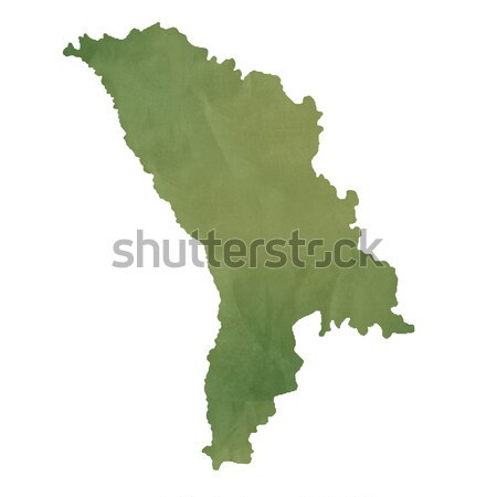 Moldova térkép zöld papír öreg izolált Stock fotó © speedfighter