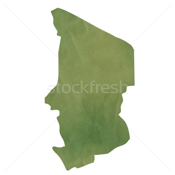 Edad verde papel mapa Chad aislado Foto stock © speedfighter