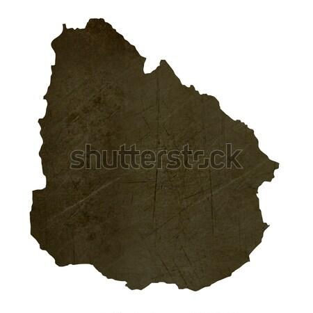 Mintázott térkép Uruguay barna kő kő Stock fotó © speedfighter