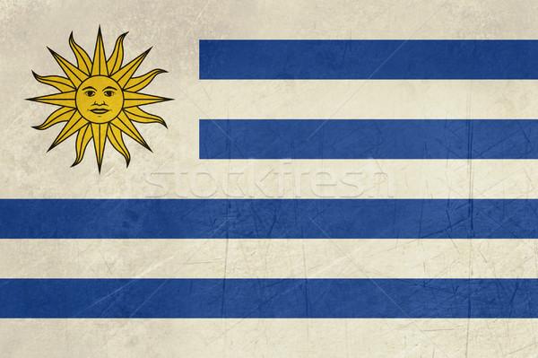 Grunge Uruguay zászló vidék hivatalos színek Stock fotó © speedfighter