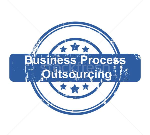 üzlet folyamat kiszervezés bélyeg csillagok izolált Stock fotó © speedfighter