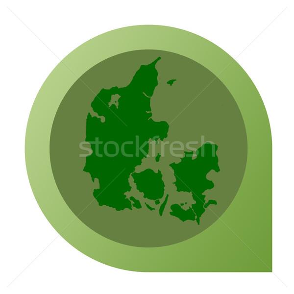 Odizolowany Dania Pokaż znacznik pin web design Zdjęcia stock © speedfighter
