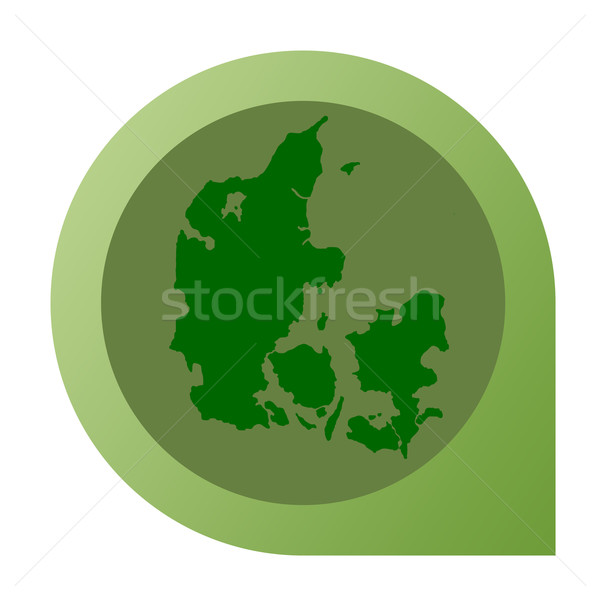 Isolé Danemark carte marqueur broches web design Photo stock © speedfighter
