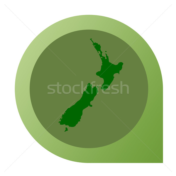 Isolated New Zealand map marker pin Stock photo © speedfighter