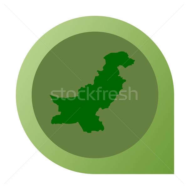 Isolated Pakistan map marker pin Stock photo © speedfighter