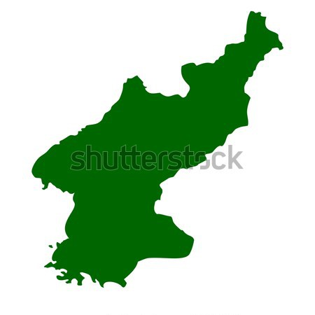 Old green map of North Korea Stock photo © speedfighter