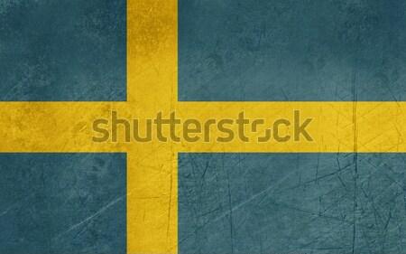 Foto d'archivio: Grunge · Svezia · bandiera · paese · ufficiale · colori