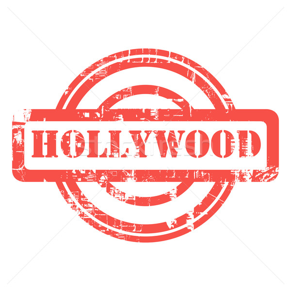 Hollywood grunge sello California utilizado rojo Foto stock © speedfighter