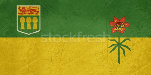 Saskatchewan banderą ilustracja Kanada banner Zdjęcia stock © speedfighter