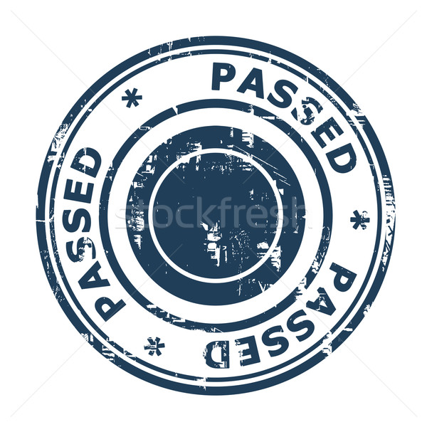 Passed concept stamp Stock photo © speedfighter
