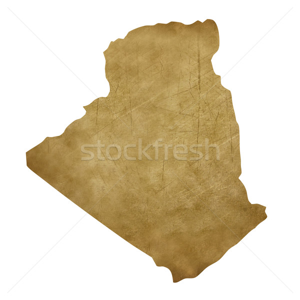 Алжир Гранж Карта сокровищ карта сокровище стиль Сток-фото © speedfighter