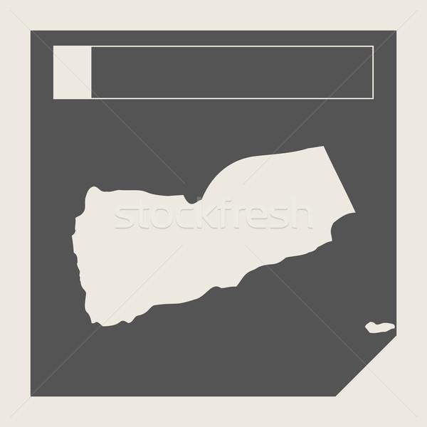 Yemen map button Stock photo © speedfighter