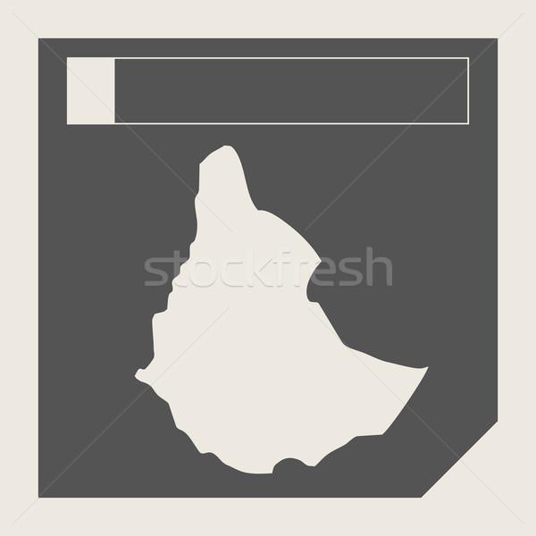 Etiopia Pokaż przycisk czuły web design odizolowany Zdjęcia stock © speedfighter
