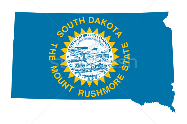 South Dakota bandeira mapa isolado branco EUA Foto stock © speedfighter