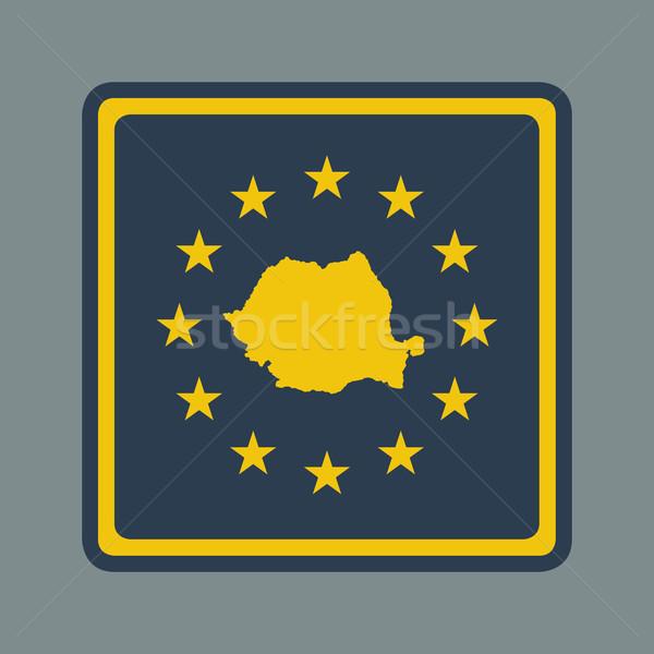 ルーマニア ヨーロッパの フラグ ボタン 敏感な Webデザイン ストックフォト © speedfighter