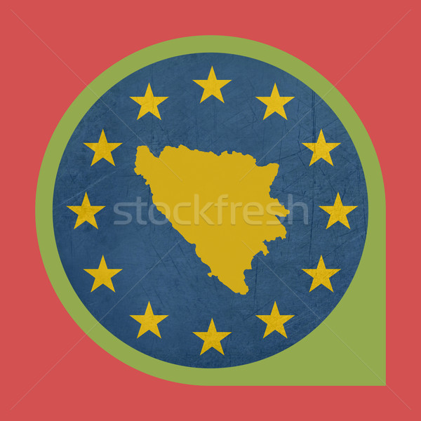 Europeo Unión Bosnia Herzegovina marcador pin aislado Foto stock © speedfighter