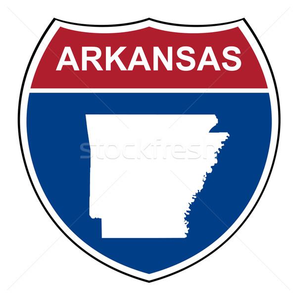 Arkansas eyaletler arası karayolu kalkan amerikan yol Stok fotoğraf © speedfighter
