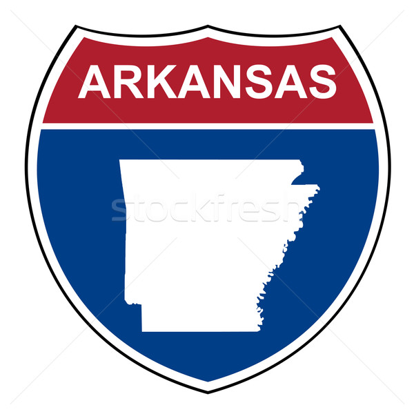 Arkansas interestadual rodovia escudo americano estrada Foto stock © speedfighter