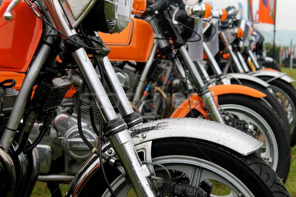 Row of motorbikes Stock photo © speedfighter