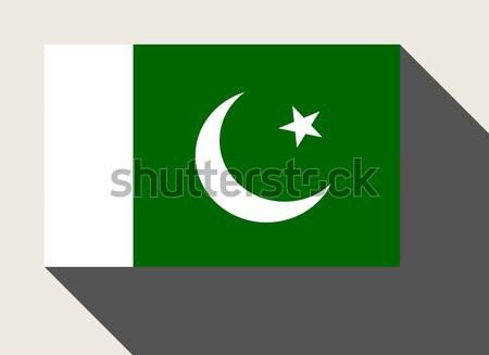 Pakisztán zászló web design stílus gomb Stock fotó © speedfighter