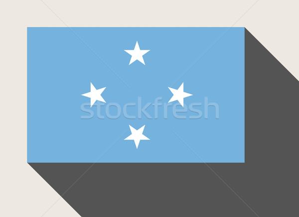 Mikronézia zászló web design stílus térkép gomb Stock fotó © speedfighter