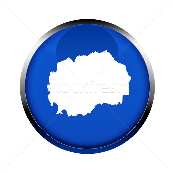 Macedónia térkép gomb színek európai szövetség Stock fotó © speedfighter