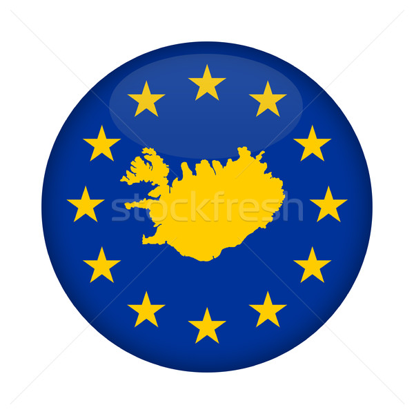 Iceland map European Union flag button Stock photo © speedfighter